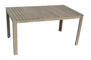 DEOKORK Záhradný stôl obdĺžnikový CHESTERFIELD (sivá patina)