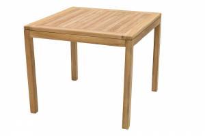 DEOKORK Záhradný stôl pevný FLORA 90x90 cm (teak)