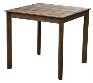 DEOKORK Záhradný stôl SCOTT 80x80 cm (hnedý)