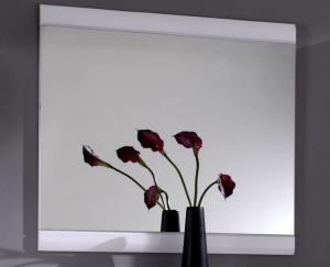 Nástenné zrkadlo Derby, lesklé biele
