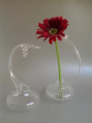 design váza sklenená 15 x 20 cm