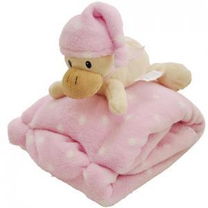 Detská deka 75x100 ružová kačka
