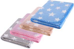 Dětská deka HAPPY STAR růžová s hvězdičkami 80x90 cm Mybesthome