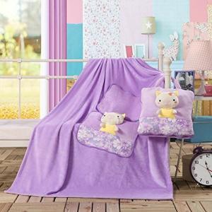 Dětská deka z mikrovlákna DecoKing Cute fialová