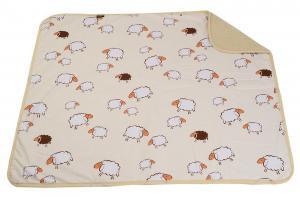 Detská deka z ovčieho rúna hnedá 110x100 cm