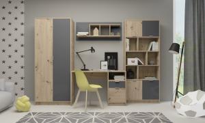 Detská izba - Renar - Carlos (dub artisan + antracit). Sme autorizovaný predajca Renar.