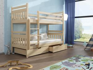 Detská poschodová posteľ 90 cm Aras (borovica)