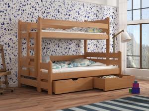 Detská poschodová posteľ 90 cm Bivi (buk)