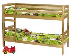 Detská poschodová posteľ: halmar sam s matracom (jelša)