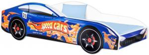 Detská posteľ Car modrá Veľkosť postielky: 140x70