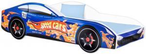 Detská posteľ Car modrá Veľkosť postielky: 160x80