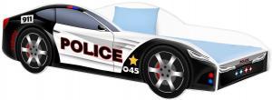 Detská posteľ Car Police Veľkosť postielky: 140x70