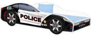 Detská posteľ Car Police Veľkosť postielky: 160x80