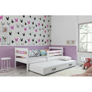 Detská posteľ s výsuvnou posteľou ERYK 190x80 cm Šedá Šedá