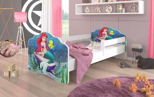 Detská posteľ so zábranou - víla Ariel 140x70 cm
