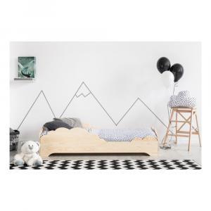 Detská posteľ z borovicového dreva Adeko BOX 9, 90×160 cm