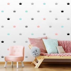 Detská šablóna na stenu - Korunky