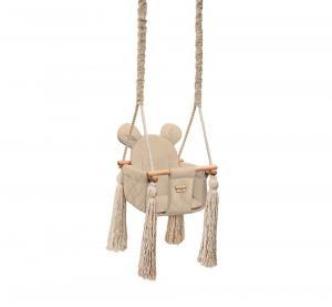 Detská sedačková hojdačka Mouse - Beige
