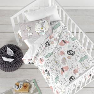 Detské bavlnené obliečky Moshi Moshi Best Buddies, 100 × 120 cm
