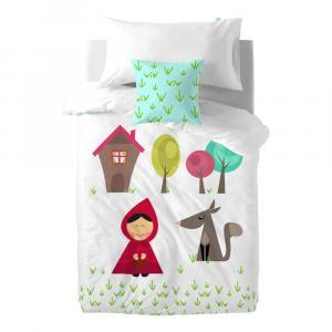 Detské bavlnené obliečky na paplón a vankúš Mr. Fo× Grandma, 140 × 200 cm