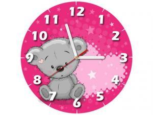 Detské hodiny Zaľúbený macko 30x30cm ZD5353A_1OD