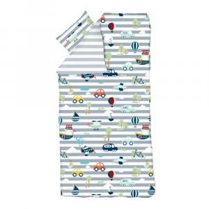 Detské obliečky Flexa Transport, 140 x 200 cm + 80 x 80 cm