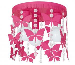 Detské stropné svietidlo ELZA butterflies 3xE27/60W/230V