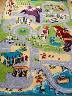 Detský koberec Agnella FUNKY A007 UGO limetka 160x220 cm