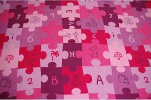 Detský koberec PUZZLE fialový