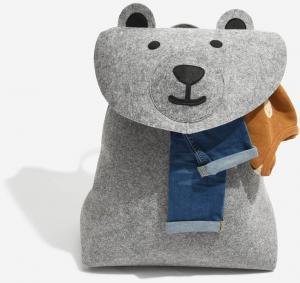 Dětský koš na prádlo Stackers Bear | Šedý