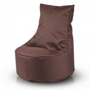 Detský MINI sedací vak ECOPUF - SEAT S - polyestér NC15 - Tmavo hnedá