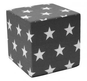 Detský taburet Hardy, sivý so vzorom hviezd