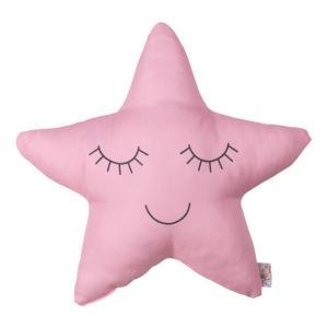 Detský vankúšik s prímesou bavlny v ružovej farbe Apolena Pillow Toy Star, 35 x 35 cm