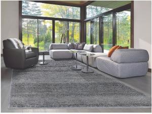 Diamond Carpets koberce Ručně vázaný kusový koberec Diamond DC-MAMLOOK jeans blue/black - 180x275 cm