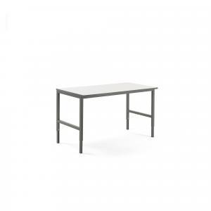 Dielenský stôl Cargo, 1600x750 mm, biela / šedá