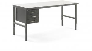 Dielenský stôl Cargo, 2000x750 mm, 3 zásuvky