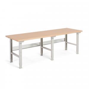 Dielenský stôl Robust, 2500x800 mm, vytvrdená doska, nosnosť 300 kg