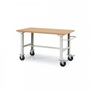 Dielenský stôl Robust, na kolieskach, 800x1500 mm, tvrdená doska stola