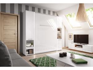 Dig-net nábytok Sklápacia posteľ Concept PRO CP-02 /120x200 Farba: Biela