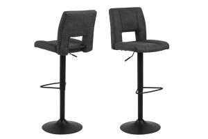 Dizajnová barová stolička Almonzo, antracitová