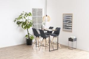 Dizajnová barová stolička Nascha, svetlo šedá