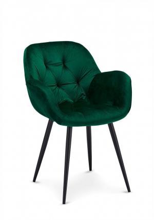 Dizajnová jedálenská stolička Aeacus, zelená