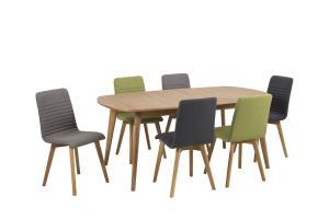 Dizajnová jedálenská stolička Alano, zelená