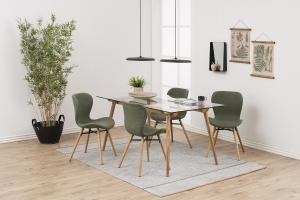 Dizajnová jedálenská stolička Alejo, zelená