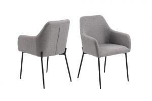 Dizajnová jedálenská stolička Algernon, tmavo sivá