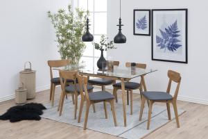 Dizajnová jedálenská stolička Aloysius, tmavosivá