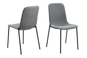 Dizajnová jedálenská stolička Alpheus, svetlosivá