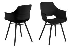 Dizajnová jedálenska stolička Narda, čierna