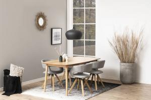 Dizajnová jedálenska stolička Natania, svetlo šedá