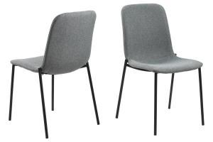 Dizajnová jedálenská stolička Nerissa, svetlo šedá